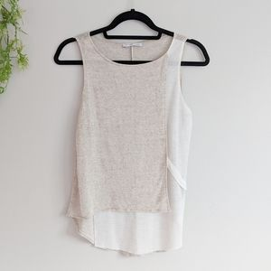 (Zara) W8 Collection Cream Tan Sleeveless Tank